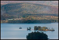Islets, Moosehead Lake. Maine, USA