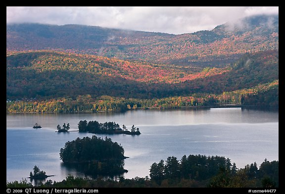 Lake autumn landscape. Maine, USA (color)