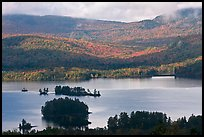 Lake autumn landscape. Maine, USA ( color)