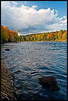 Penobscot River in autumn, late afternoon. Maine, USA (color)
