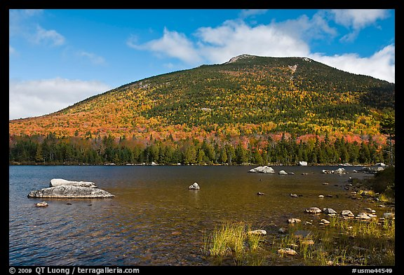South Turner Mountain above Sandy Stream Pond in autumn. Baxter State Park, Maine, USA