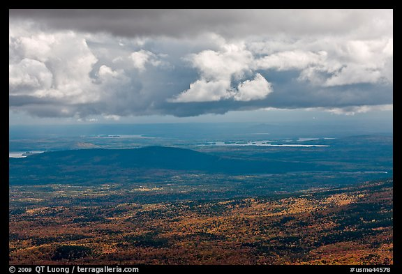 Storm clouds above autumn landscape. Baxter State Park, Maine, USA (color)