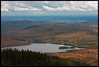 Katahdin Lake in the distance. Baxter State Park, Maine, USA