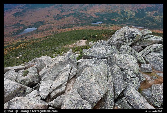 Rocks on summit of South Turner Mountain. Baxter State Park, Maine, USA