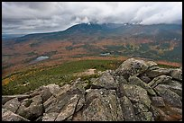 Katahdin and forests seen from South Turner Mountain. Baxter State Park, Maine, USA ( color)