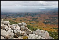 Moving rain front seen from South Turner Mountain. Baxter State Park, Maine, USA