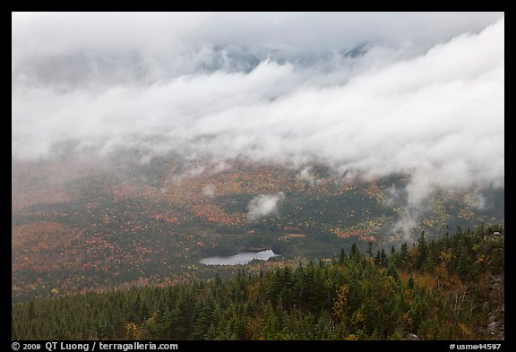 Clearing storm from above. Baxter State Park, Maine, USA (color)