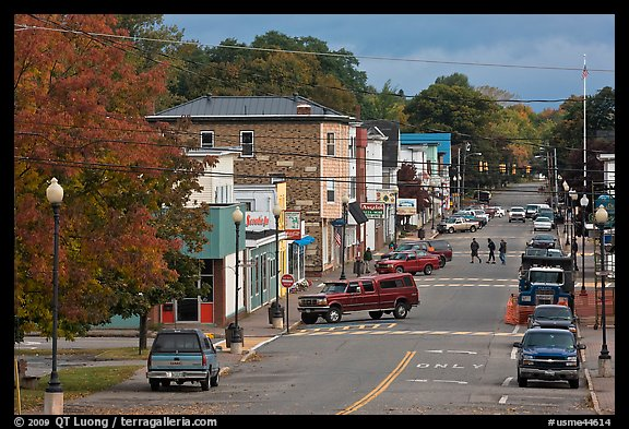 Main street, Millinocket. Maine, USA (color)