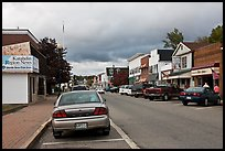 Street and stores, Millinocket. Maine, USA ( color)