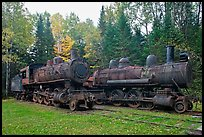 Lacroix locomotives. Allagash Wilderness Waterway, Maine, USA ( color)