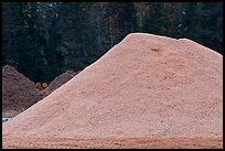 Sawdust pile, Ashland. Maine, USA (color)