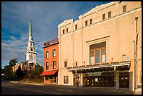 Penobscot Theater and church. Bangor, Maine, USA ( color)