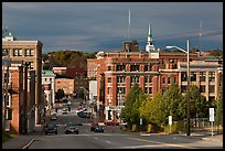 State Street and downtown. Bangor, Maine, USA (color)