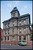 Historic custom house. Portland, Maine, USA (color)