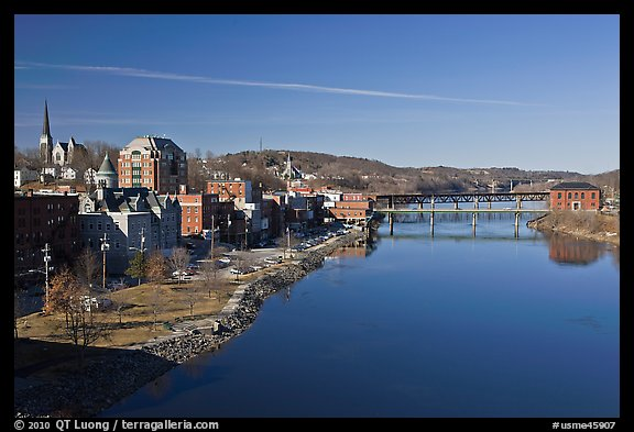 Kennebec River. Augusta, Maine, USA (color)