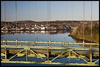 Waldo-Hancock Bridge and Buckport. Maine, USA ( color)