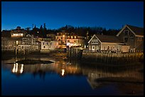 Harbor by night. Stonington, Maine, USA ( color)
