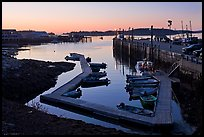 Small boat harbor at dawn. Stonington, Maine, USA ( color)