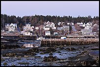 Harbor at low tide, dawn. Stonington, Maine, USA ( color)