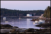 Harbor, dawn. Stonington, Maine, USA ( color)