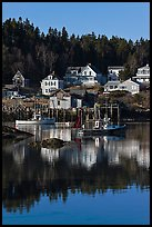 Harbor and houses, morning. Stonington, Maine, USA ( color)