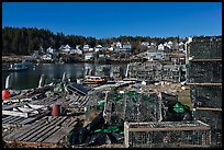 Lobster fishing village. Stonington, Maine, USA ( color)
