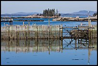 Water fence and islets. Stonington, Maine, USA ( color)