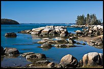 Boulders, Penobscot Bay. Stonington, Maine, USA (color)