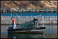 Lobstermen hauling traps. Stonington, Maine, USA ( color)