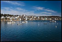 Village and harbor. Stonington, Maine, USA ( color)