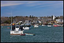 Traditional lobster fishing harbor. Corea, Maine, USA (color)