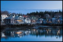 Harbor waterfront at dawn. Stonington, Maine, USA ( color)