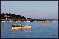 Traditional Maine lobstering boats. Stonington, Maine, USA ( color)