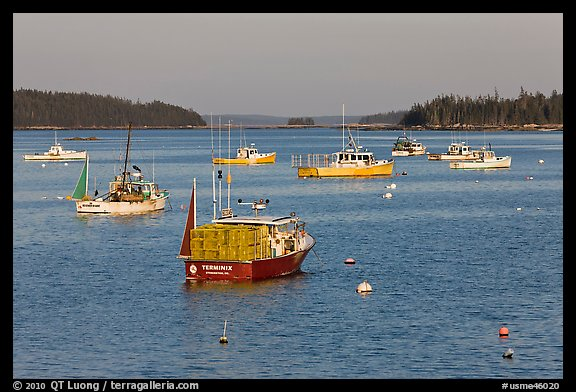 Traditional Maine  lobster boat. Stonington, Maine, USA (color)