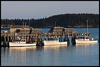 Lobster boats and wharf. Stonington, Maine, USA ( color)