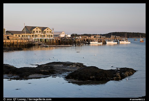 Harbor, late afternoon. Stonington, Maine, USA (color)