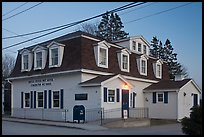Post office in federal style at dusk. Stonington, Maine, USA ( color)