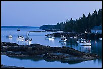 Lobstering fleet at dusk. Stonington, Maine, USA ( color)