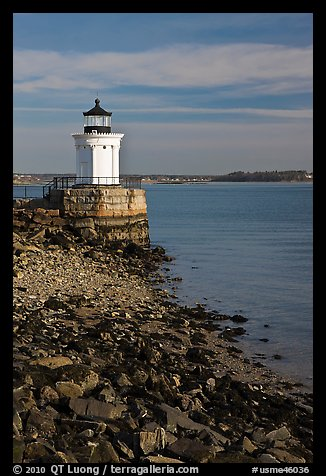 Bug Light lighthouse at the harbor entrance. Portland, Maine, USA (color)