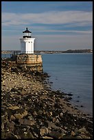 Bug Light lighthouse at the harbor entrance. Portland, Maine, USA ( color)