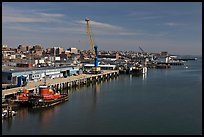 Shipping harbor with tugboats and crane. Portland, Maine, USA ( color)