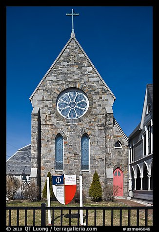 Saint Paul Parish, 1763. Portland, Maine, USA (color)