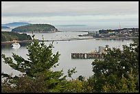 Bar Island and Frenchman bay. Bar Harbor, Maine, USA (color)