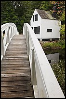 White wooden bridged and house. Maine, USA ( color)