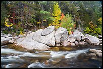 Orin Falls in autumn. Katahdin Woods and Waters National Monument, Maine, USA ( color)