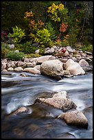 Rapids of Wassatotaquoik Stream at Orin Falls. Katahdin Woods and Waters National Monument, Maine, USA ( color)