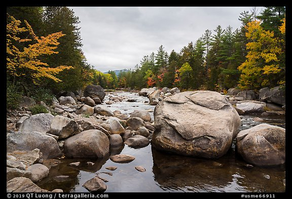 Wassatotaquoik Stream at Orin Falls. Katahdin Woods and Waters National Monument, Maine, USA (color)