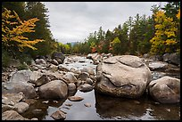 Wassatotaquoik Stream at Orin Falls. Katahdin Woods and Waters National Monument, Maine, USA ( color)
