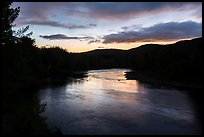 East Branch Penobscot River, sunset. Katahdin Woods and Waters National Monument, Maine, USA ( color)