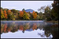 Desey Mountain reflected in East Branch Penobscot River. Katahdin Woods and Waters National Monument, Maine, USA ( color)